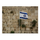 Flag of Israel in the Wall of the Sorrows Postcard