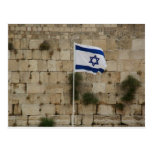 Flag of Israel in the Wall of the Sorrows Post Cards
