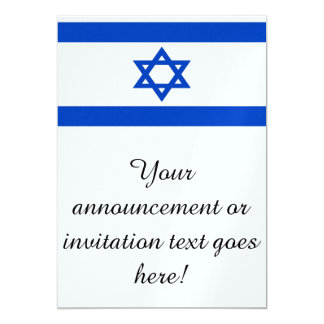 "Flag of Israel 5"" X 7"" Invitation Card"