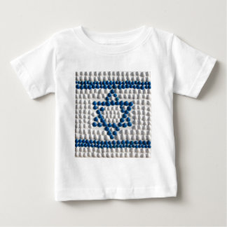 Flag of Israel made of shells from Israel Baby T-Shirt
