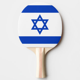 Flag of Israel Ping Pong Paddle