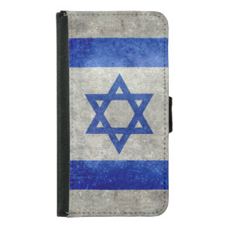 Flag of Israel retro style Wallet Phone Case For Samsung Galaxy S5