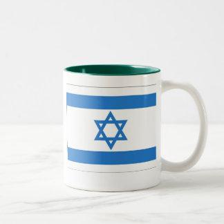Flag of Israel Two-Tone Coffee Mug