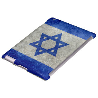 Flag of Israel with worn retro vintage textures