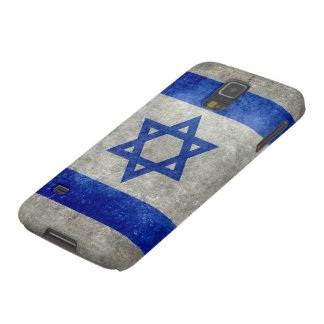 Flag of Israel with worn retro vintage textures Case For Galaxy S5