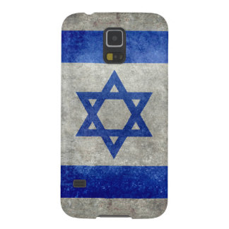 Flag of Israel with worn retro vintage textures Galaxy S5 Cover