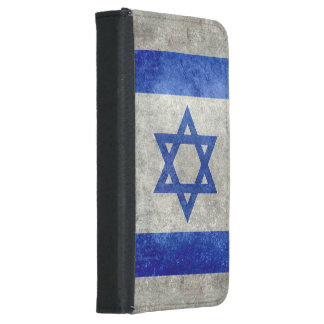 Flag of Israel with worn retro vintage textures Samsung Galaxy S5 Wallet Case