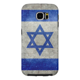 Flag of Israel with worn retro vintage textures Samsung Galaxy S6 Case