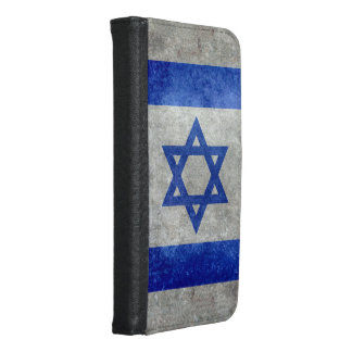 Flag of Israel with worn retro vintage textures Wallet Phone Case For Samsung Galaxy S6