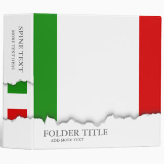 Flag of Italy 3 Ring Binder