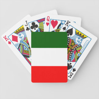 Flag of Italy Bicycle Playing Cards