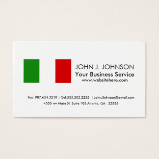 Flag of Italy Business Card