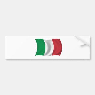 Flag of Italy Car Bumper Sticker