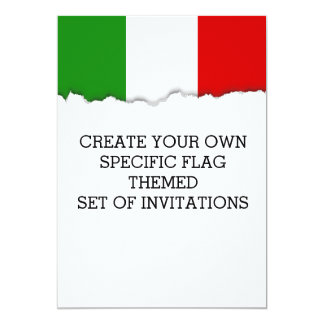 Flag of Italy Card
