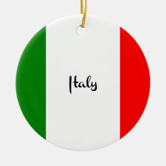 Flag of Italy Ceramic Ornament