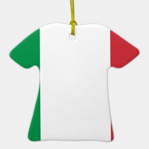 Flag of Italy Christmas Tree Ornaments