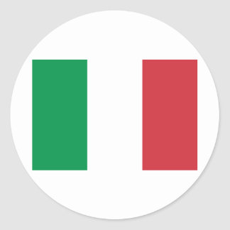 Flag of Italy Classic Round Sticker