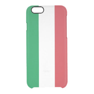 Flag of Italy Clear iPhone Case