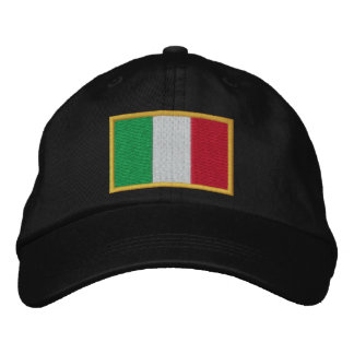Flag of Italy Embroidered on Cap