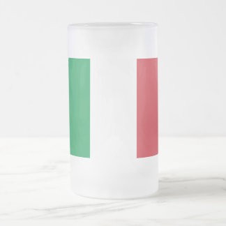 Flag of Italy Frosted Glass Beer Mug