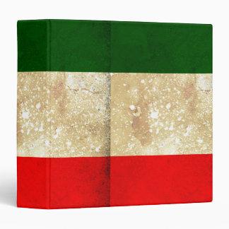 Flag of Italy Grunge Binder