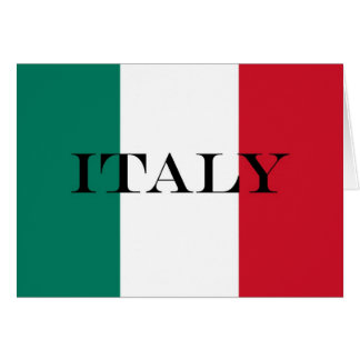 Flag of Italy Italia Italian Card