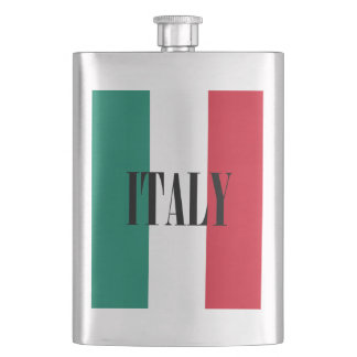 Flag of Italy Italia Italian Flask