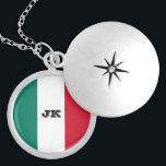"""Flag of Italy Italia Italian Il Tricolore Silver Plated Necklace<br><div class=""""desc"""">The current Italian flag consists of three equal vertical bands of color – green, white, and red. This kind of flag is known as a tricolor design. In Italian the flag is known as Il Tricolore. The modern flag of Italy wasn't made the country's official flag until 1948, but the...</div>"""