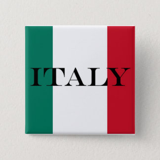 Flag of Italy Italia Italian Pinback Button