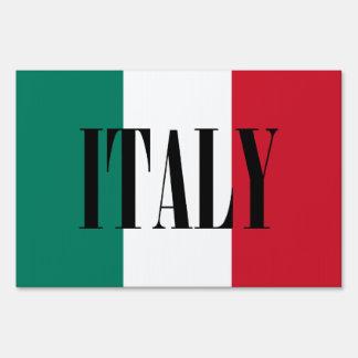 Flag of Italy Italia Italian Sign