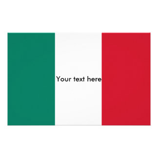 Flag of Italy Italia Italian Stationery
