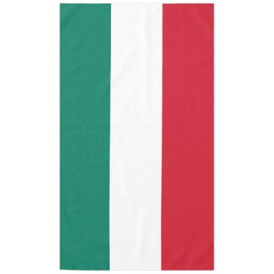 Cities, Map, And Flag Of Italy Tablecloth | Zazzle.com