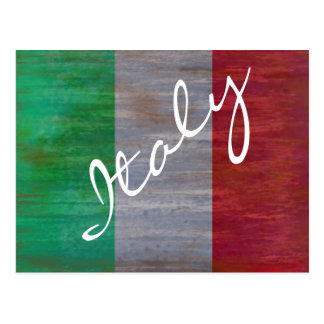 Flag of Italy - Italian Flag - Personalise Postcard