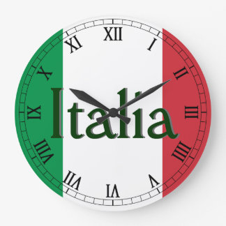 Flag of Italy Large Clock
