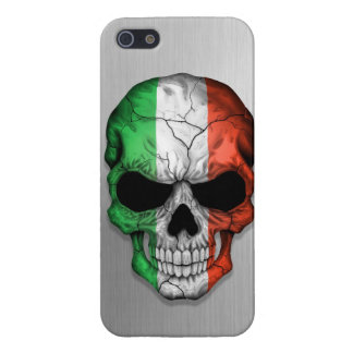 Flag of Italy on a Steel Skull Graphic Case For iPhone SE/5/5s