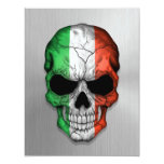 Flag of Italy on a Steel Skull Graphic Personalized Invites