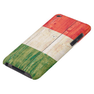 Flag of Italy on Wood iPod Case-Mate Case