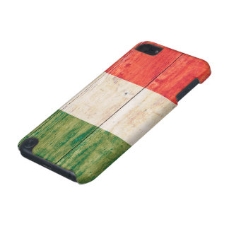 Flag of Italy on Wood iPod Touch 5G Cover