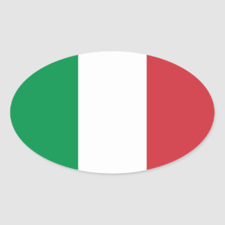 Flag of Italy Oval Sticker