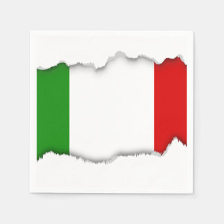 Flag of Italy Paper Napkin