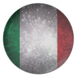 Flag of Italy Party Plate