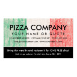 flag of italy pizza coupon Double-Sided standard business cards (Pack of 100)