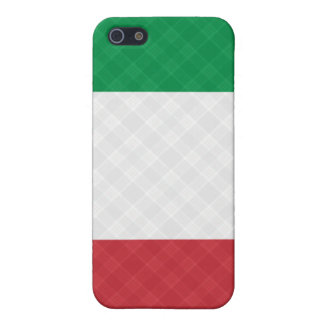 Flag of Italy Plaid ® Fitted™  Cover For iPhone SE/5/5s