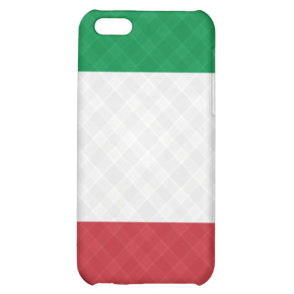 Flag of Italy Plaid ® Fitted™  Case For iPhone 5C