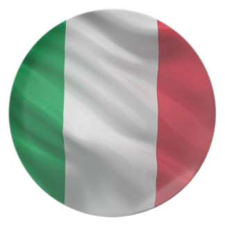 Flag of Italy Plate
