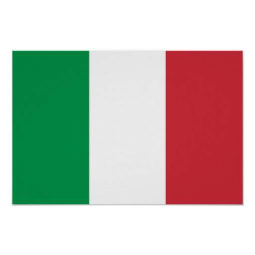 Flag of Italy Poster