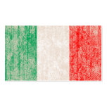 flag of italy punch card