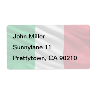 Flag of Italy Shipping Label