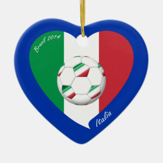 Flag of ITALY SOCCER and national teams 2014 Ceramic Ornament