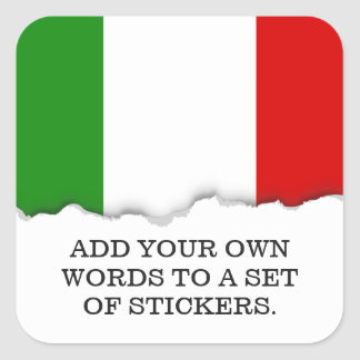 Flag of Italy Square Sticker
